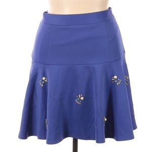 🔜 🔵 Catherine Blue A-Line Casual Skirt Size 14